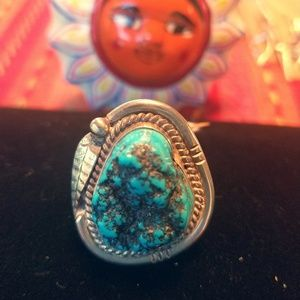 Men's signed Turquoise Ring
